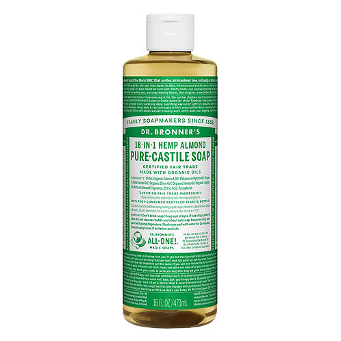 Dr. Bronner's 18-in-1 Almond Castile Soap