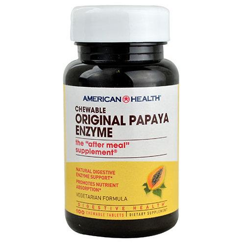 American Health Chewable Original Papaya Enzyme 100 chewable tablets
