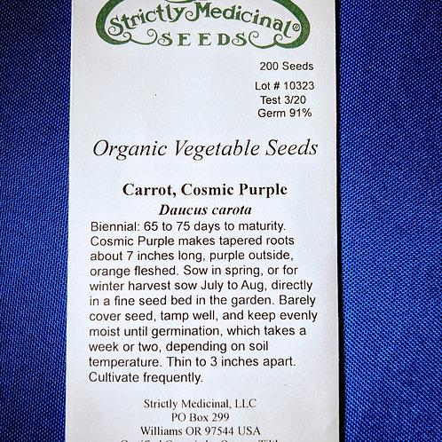Carrot, Cosmic Purple (Daucus carota) seeds, organic