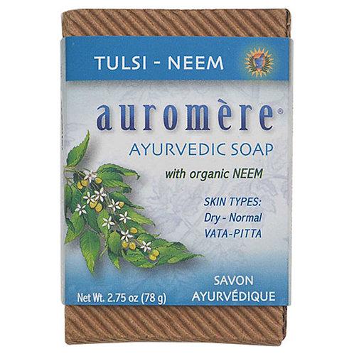 Auromere Tulsi-Neem Ayurvedic Soap Bar