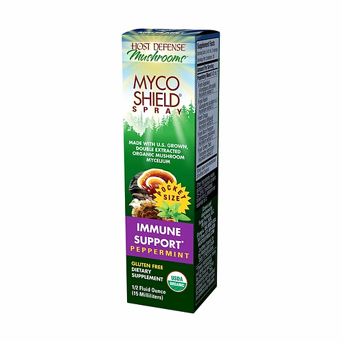 Host Defense MycoShield Peppermint Travel Spray (15 ml)