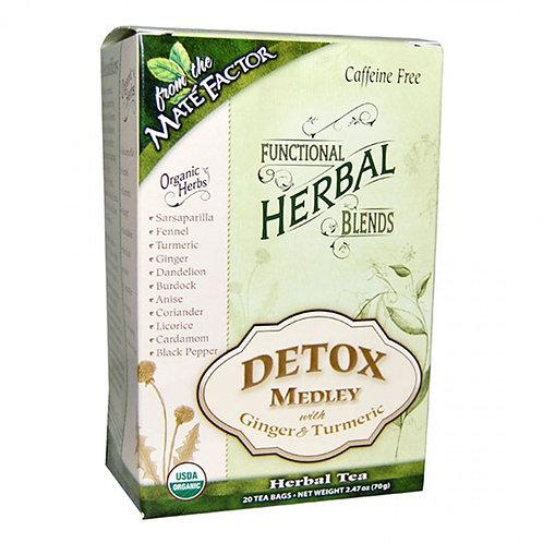 Maté Factor Detox Medley with Ginger & Turmeric Herbal Tea Blend 20 tea bags