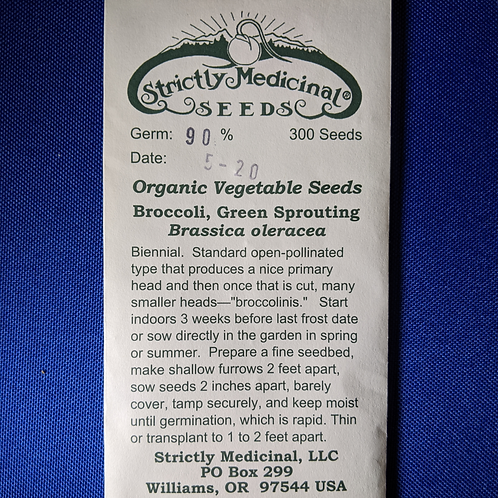 Broccoli, Green Sprouting (Brassica oleracea) seeds, organic