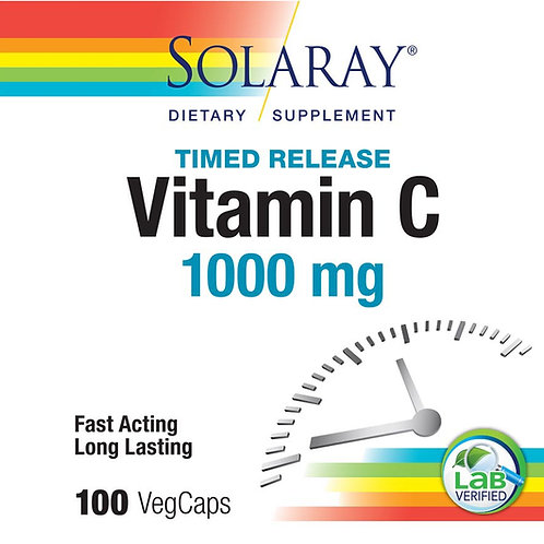 Solaray Vitamin C Timed-Release Formula 100 count
