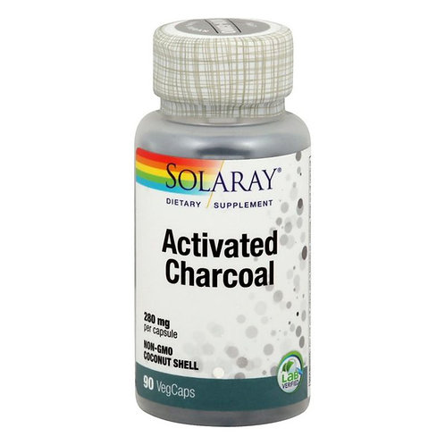 Solaray Activated Charcoal with Coconut Source 90 count