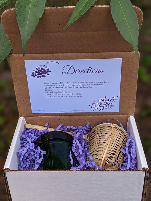 Elderberry Syrup DIY Gift Box