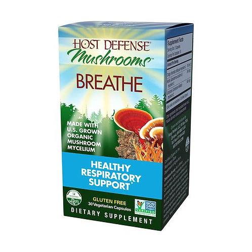 Host Defense Breathe Capsules - Healthy Respiratory Support (30 ct)