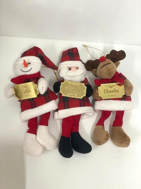 Pingentes de Natal com Placa Personalizada
