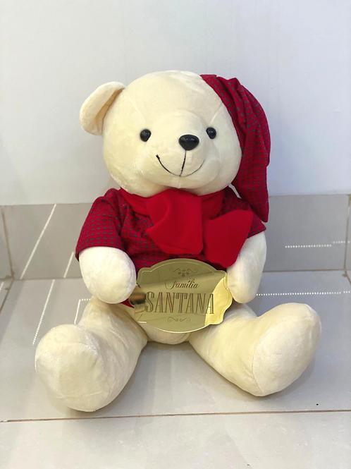 Urso de Pelúcia Grande com Placa da Família