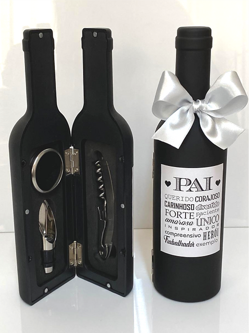Kit Pequeno de Acessórios de Vinho em Formato de Garrafa