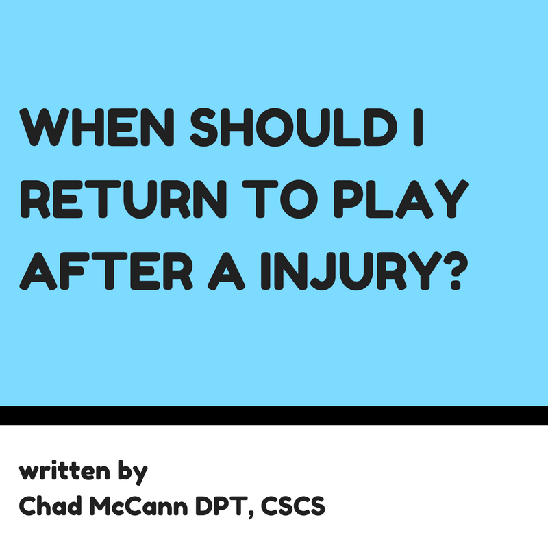 When should I return to play after a injury?