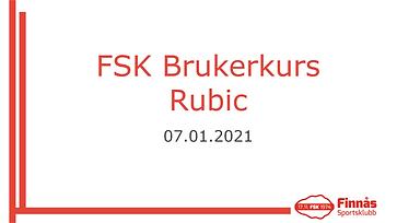Brukarkurs Rubic