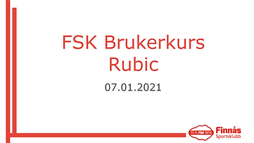 Brukarkurs Rubic - Internt kurs