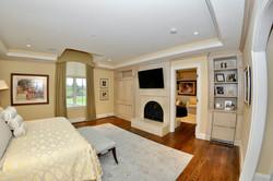 Custom Built-in Bedroom Fireplace & Display