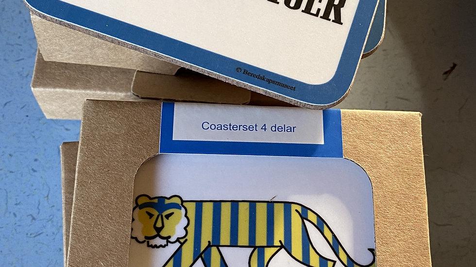 """Glasunderlägg """"En Svensk Tiger"""""""