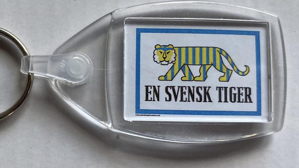 """Nyckelring """"En Svensk Tiger"""""""