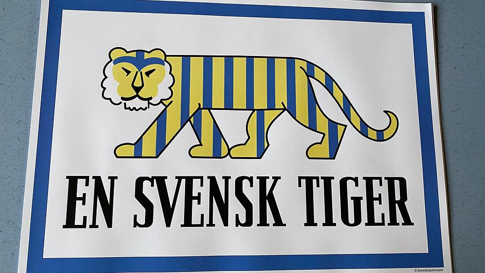 """Affisch """"En Svensk Tiger"""" stl A3"""