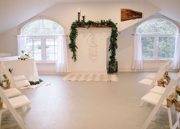 An intimate ceremony space