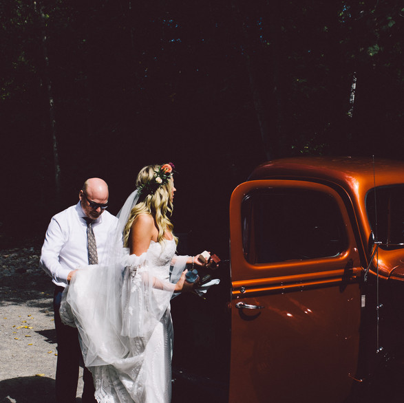 A Bride and her Dad