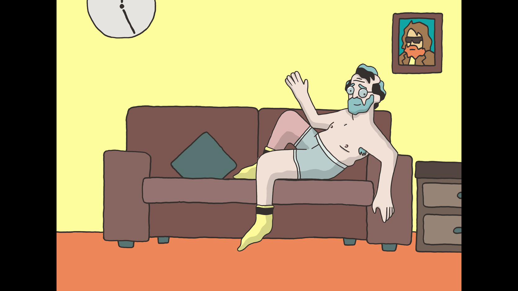 ENDING SEQUENCE TO SETTEE. A PLAYFUL END TO AN EMOTIVE VIDEO.