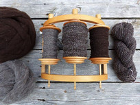 My Tour de Fleece goal was to get as far as I could towards a sweater's worth of handspun for _ha_brewer.jpg