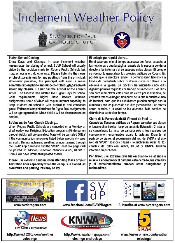Inclement Weather Winter Policy (12-15-1