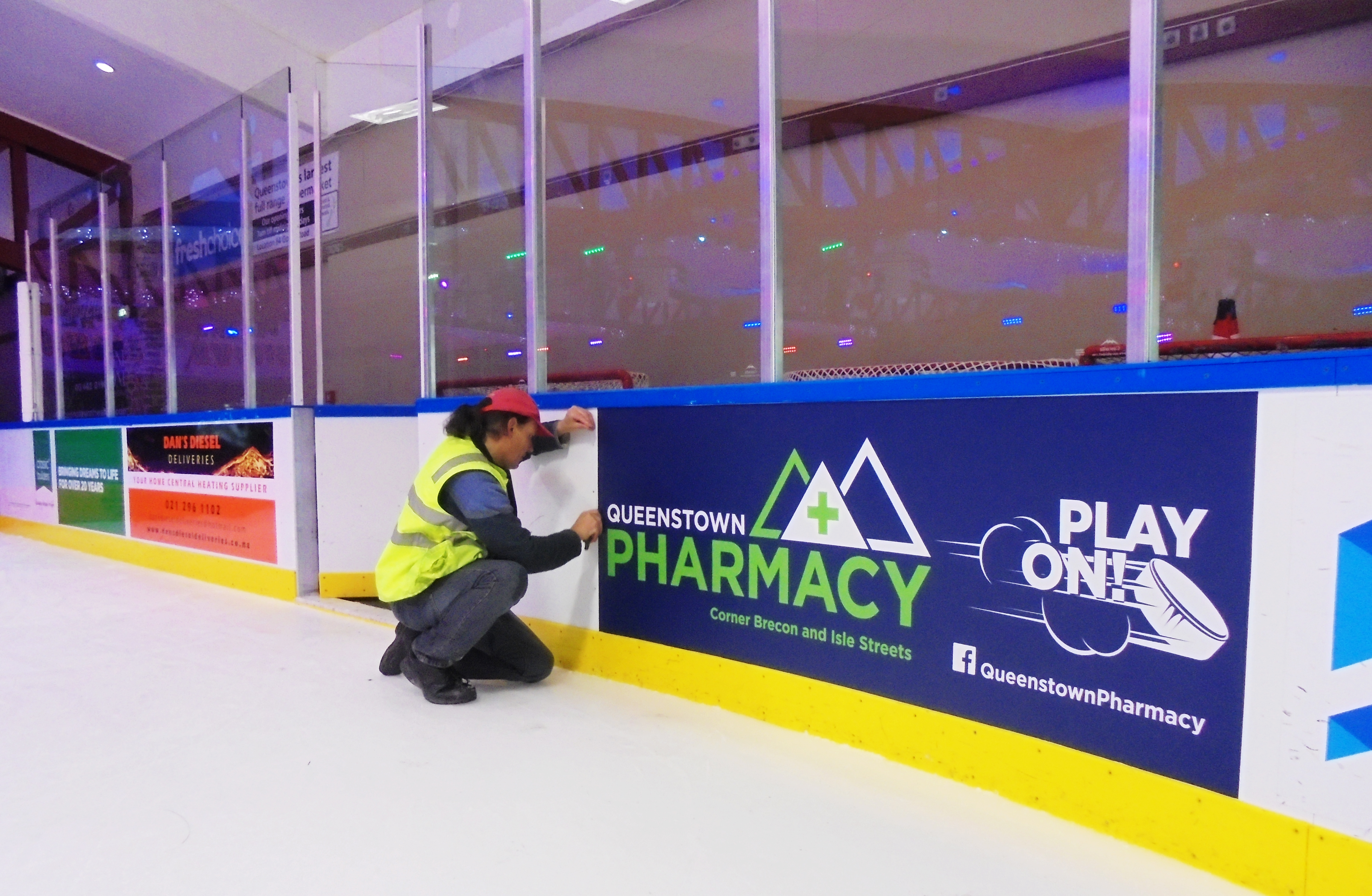 Install at ice rink