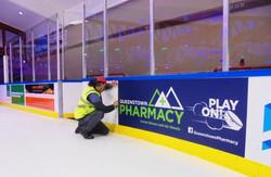 Install at ice rink