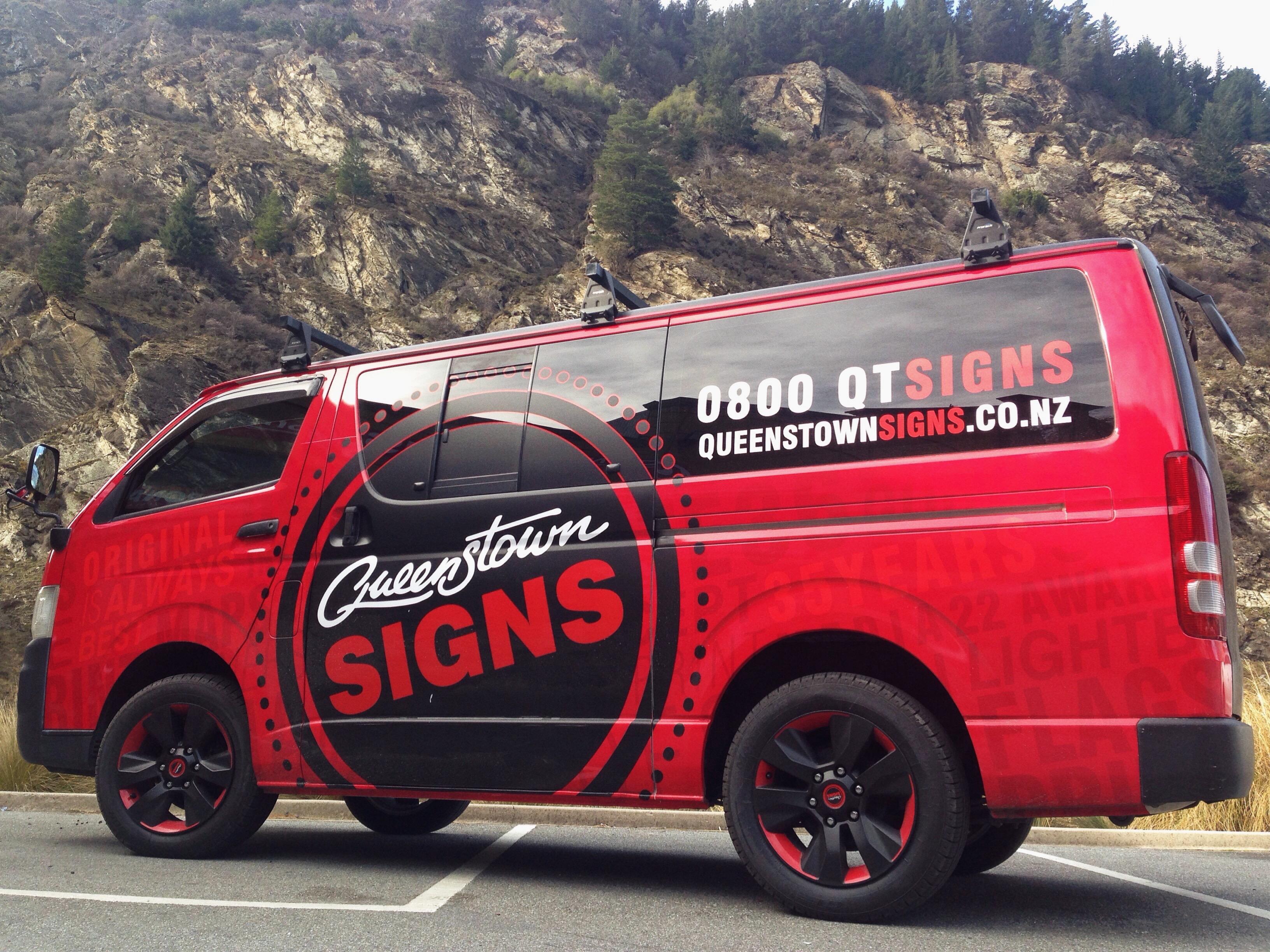 QT Signs Van
