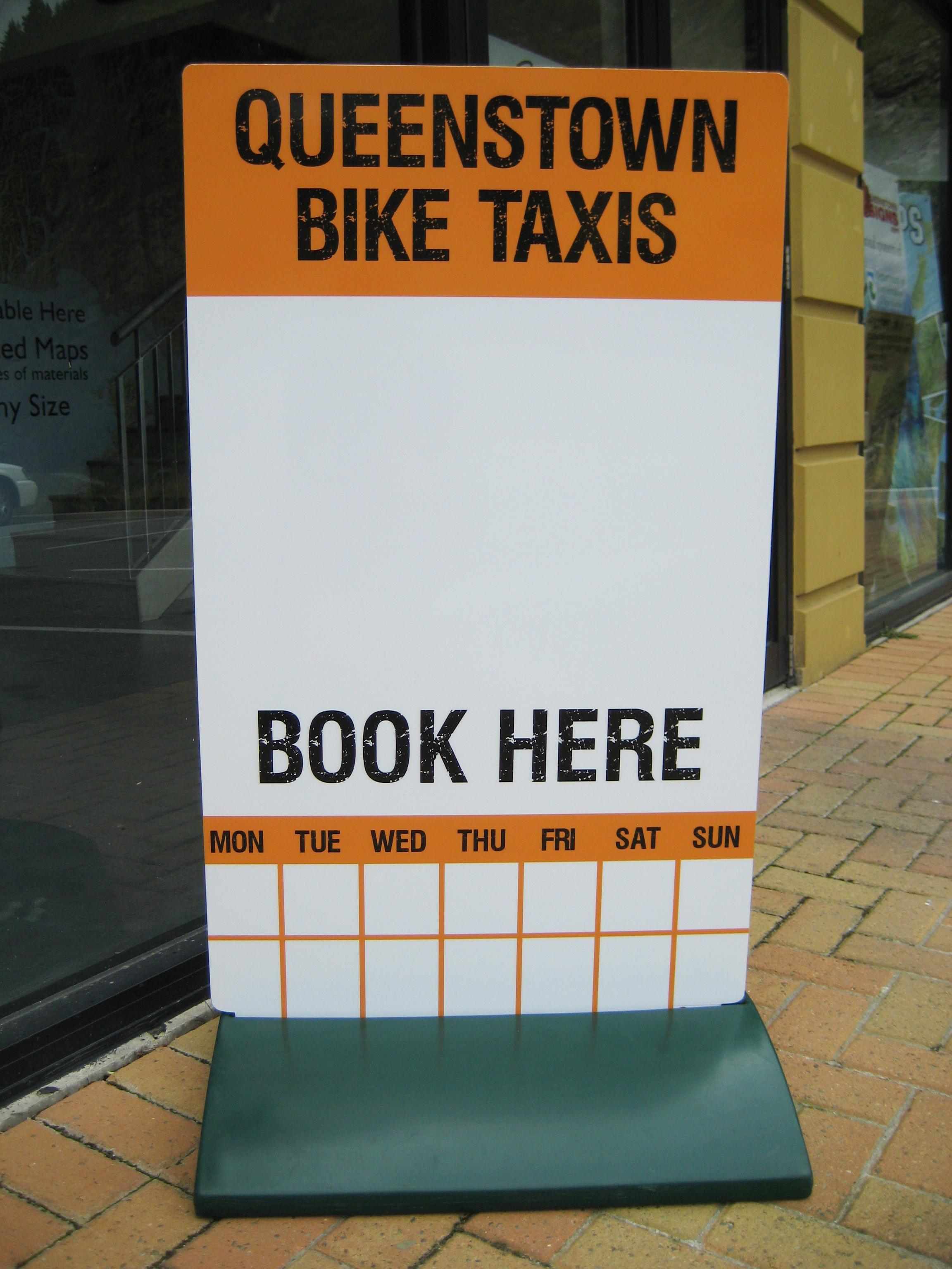 Bike Taxi Footpath Stand