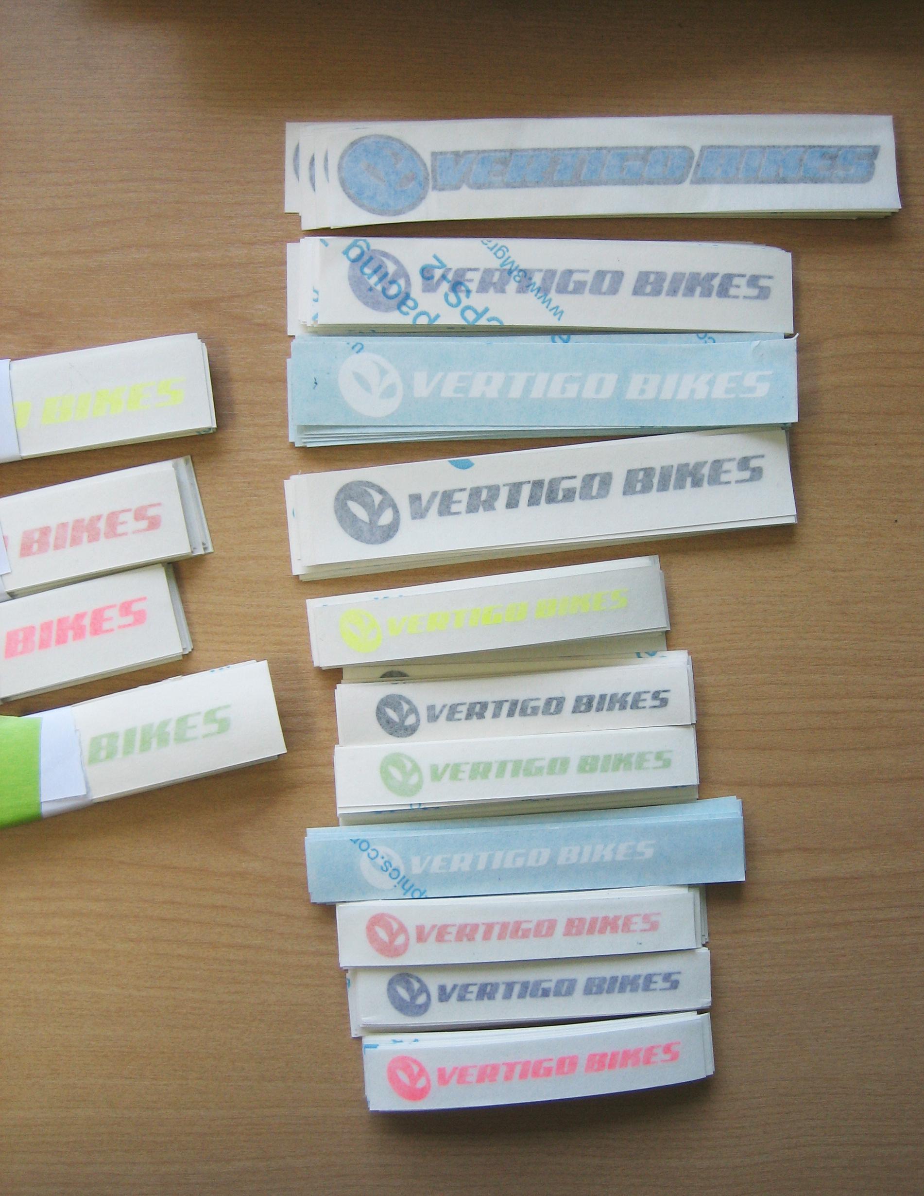Vertigo Bikes Vinyl Stickers