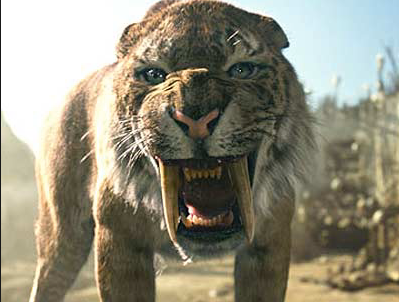 No, that's not a saber-toothed tiger...