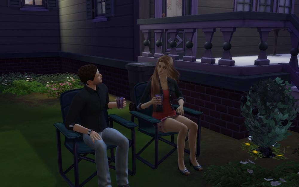 Sitting Outside with Tara