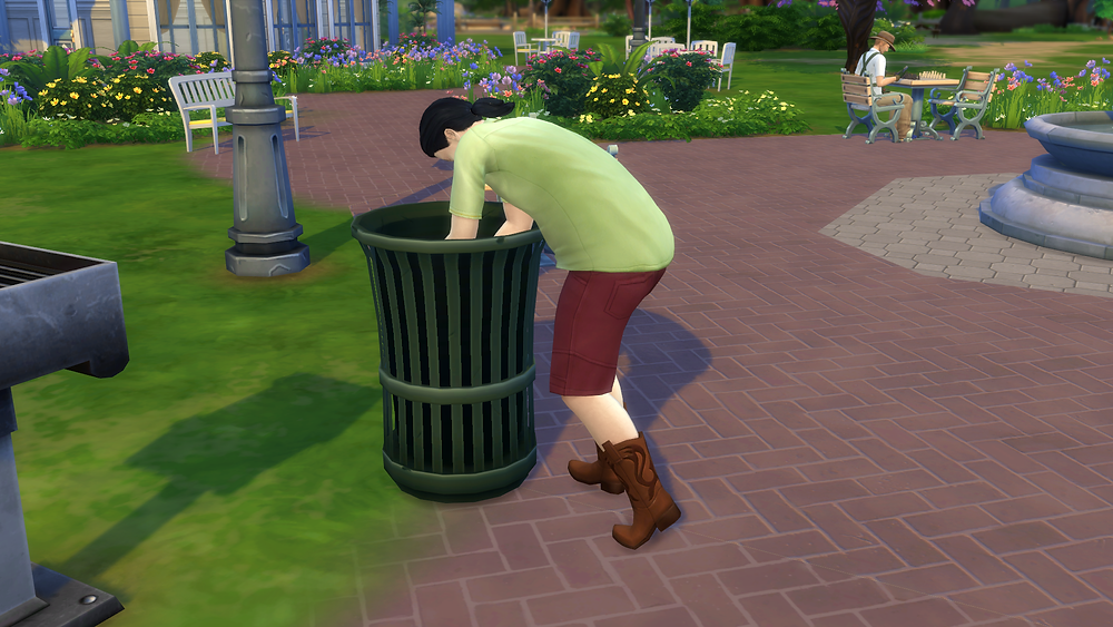 Some Guy Digging Through the Trash