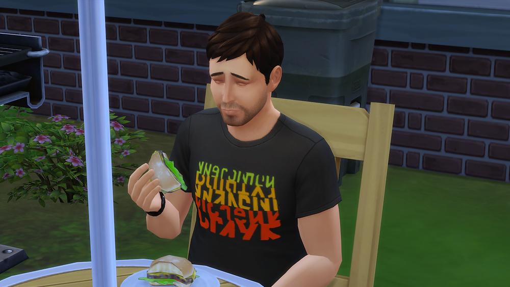 Enjoying a Burger