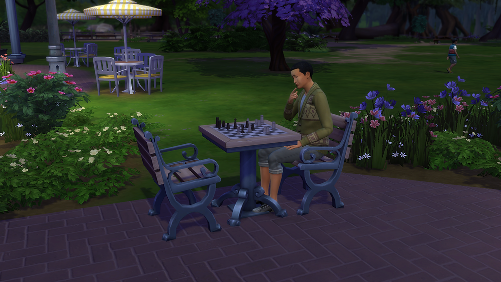 Some Guy Playing Chess by Himself