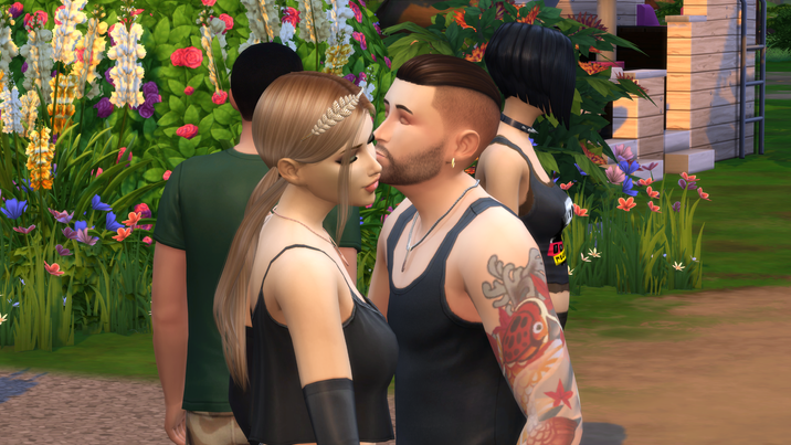 Me and Tara Kissing