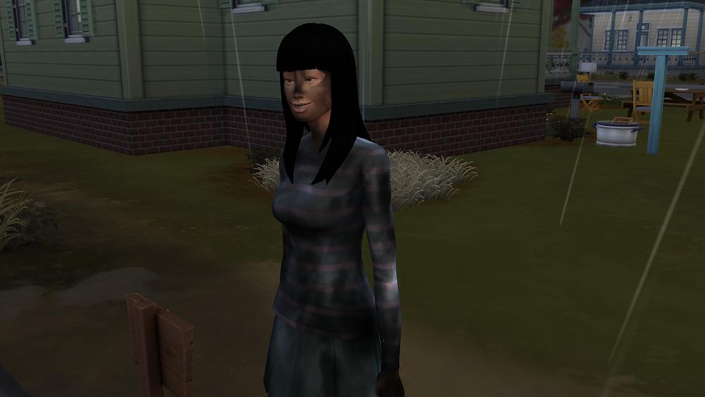 Lady struck by lightning