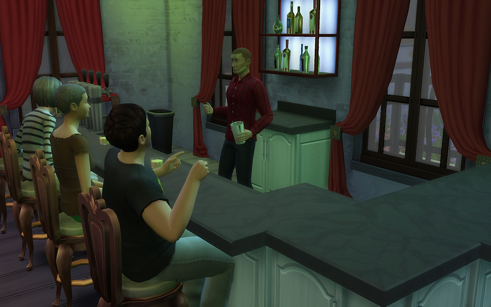 Talking with the Bartender