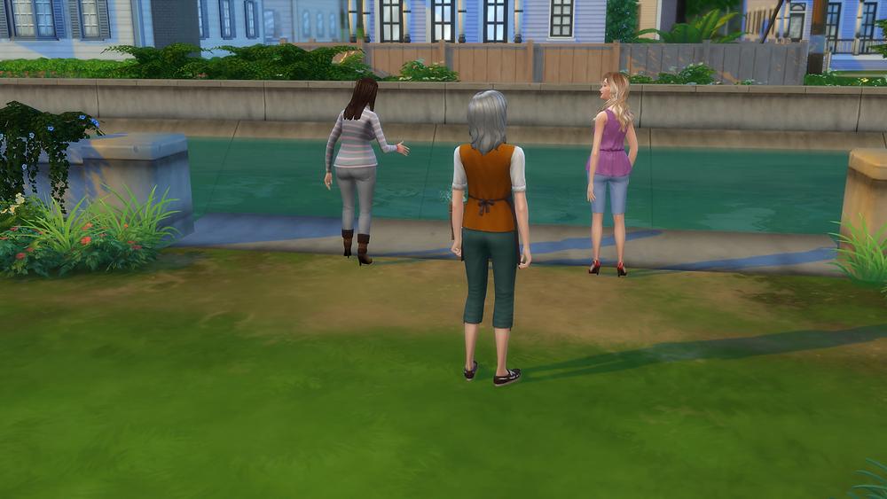 People Fishing in My Backyard