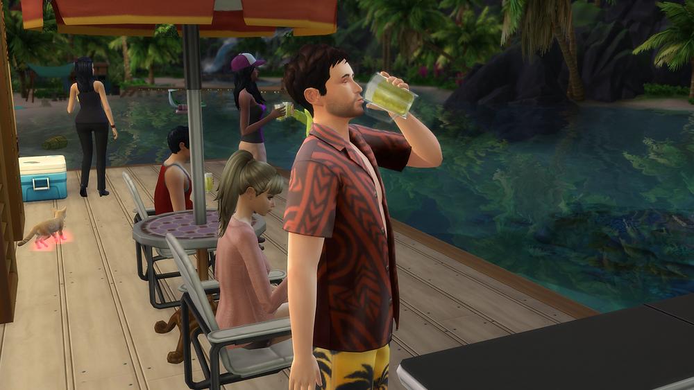 Drinking some good booze