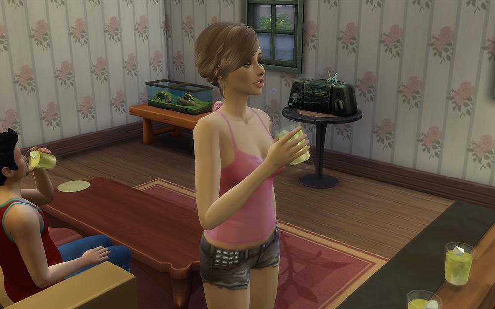 Tara Drinking a Wrench