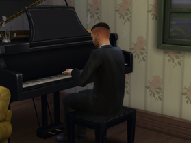 Some Piano Practice and Shared a Composition