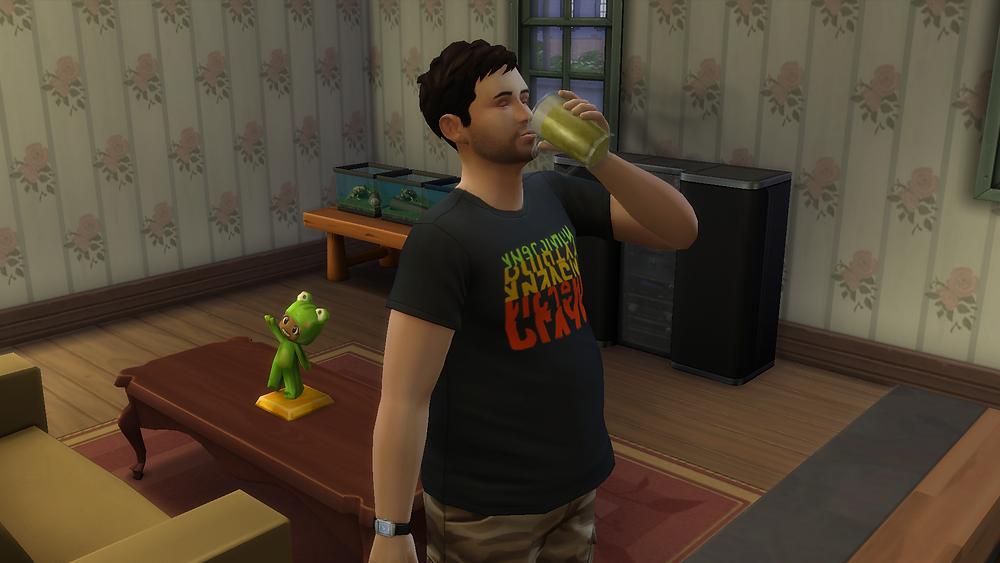Having a Drink