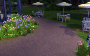 Park Pathway and Tables