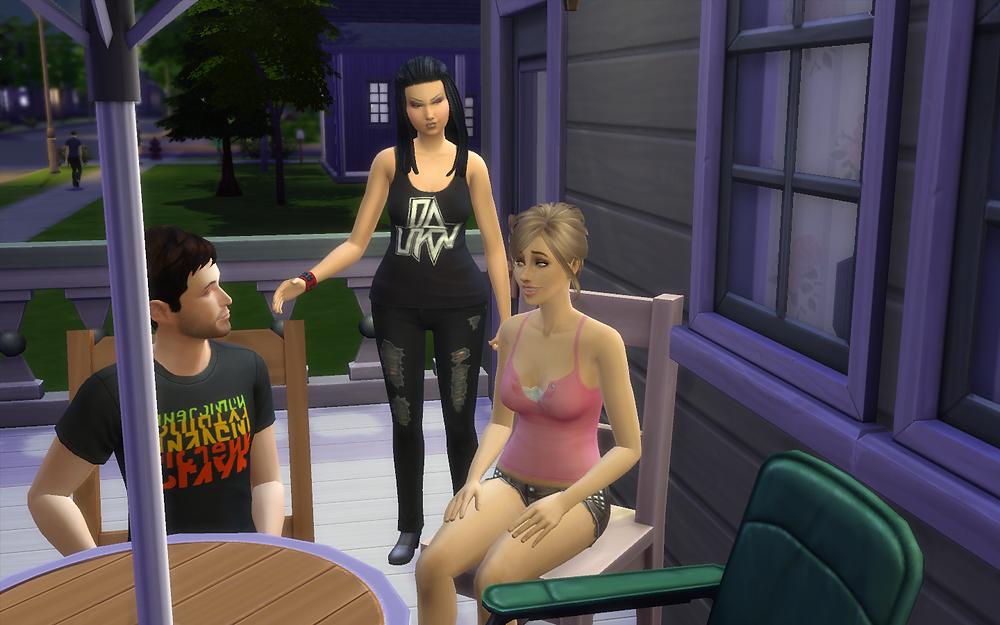 Genevieve Giving Tara the Evil Eye