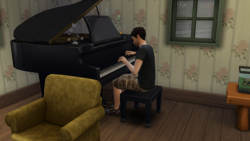 Playing the piano