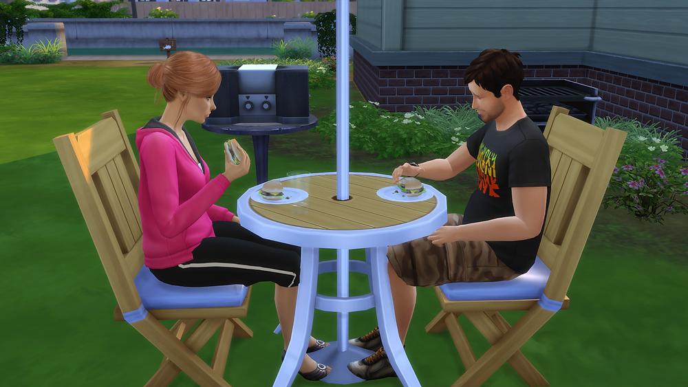 Enjoying a Burger with Tara