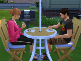 Me and Tara Enjoying a Second Round of Burgers Together