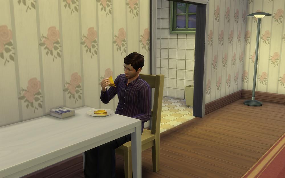 Enjoying My Grilled Cheese Sandwich
